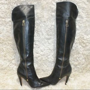Steve Madden Smokin Over the Knee Leather Boots